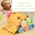 2015 nuevos suave y lindo de la historieta toalla de baño del bebé manta de bebé verde oso y el conejo, rose oso, oso amarillo y amarillo conejo