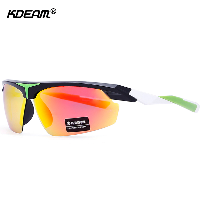KDEAM Highly Functional Polarized Sunglasses Men Active Lifestyle Shield Sun Glasses Man Eyewear Goggles During Outdoor Sports