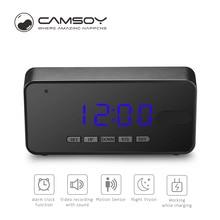 Buy Camsoy T8 Take Clock Camera Alarm Mini Camcorder Digital Mini Cam DVR DV Full HD 1080P Led Alarm Clock Camera Home Security