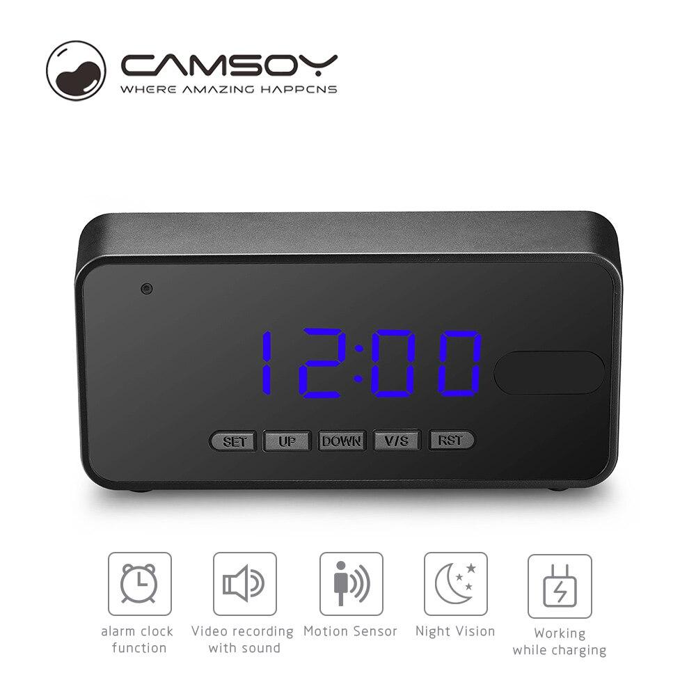 Camsoy T8C Take Clock Camera Alarm Mini Camcorder Digital Mini Cam DVR DV Full HD 1080P Led Alarm Clock Camera Home Security