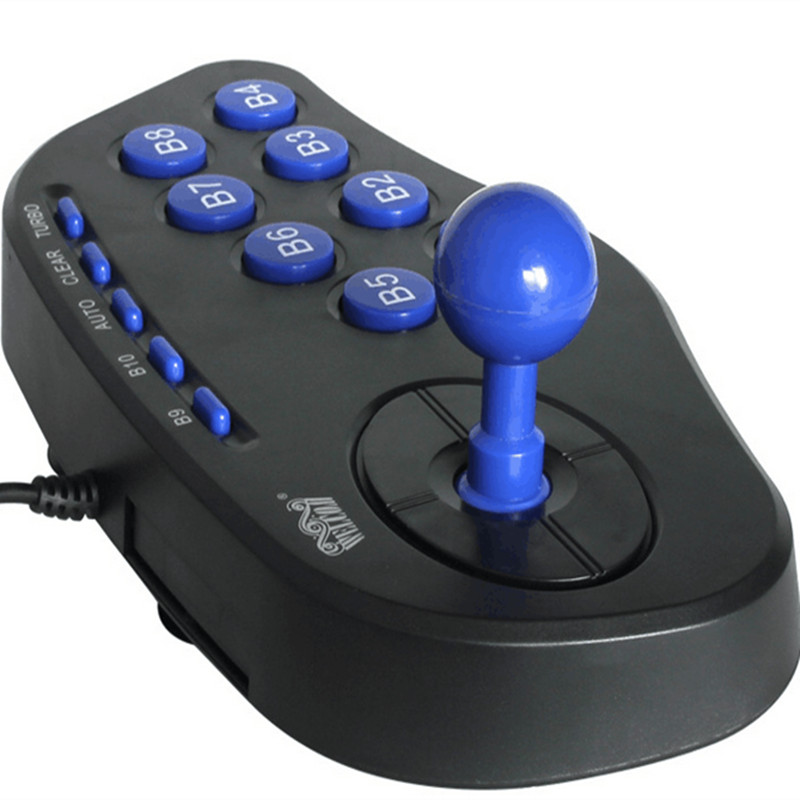 Contrôleur de jeu de manette de jeu d'arcade USB PC ordinateur joypad, poignée plug and play, véritable sentiment de combat de rue livraison gratuite