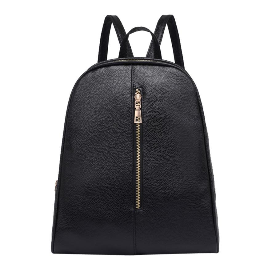 xiniu High Quality Woman Fashion Leather Backpack Female Preppy Style Zipper Mochila School Bag for Teenager 2018 shoulder bag