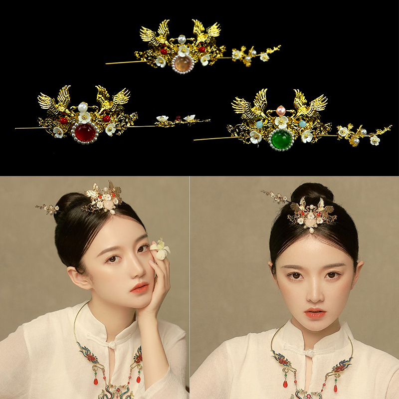 vintage hanfu hairpin ancient chinese hair crown for photo studio beautiful classic style hair accessories warrior cosplay