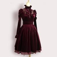 2016 высокое качество Весна Осень женское сексуальное платье женское Винтаж Королевский суд длинное вечернее платье бархатное Бандажное пла