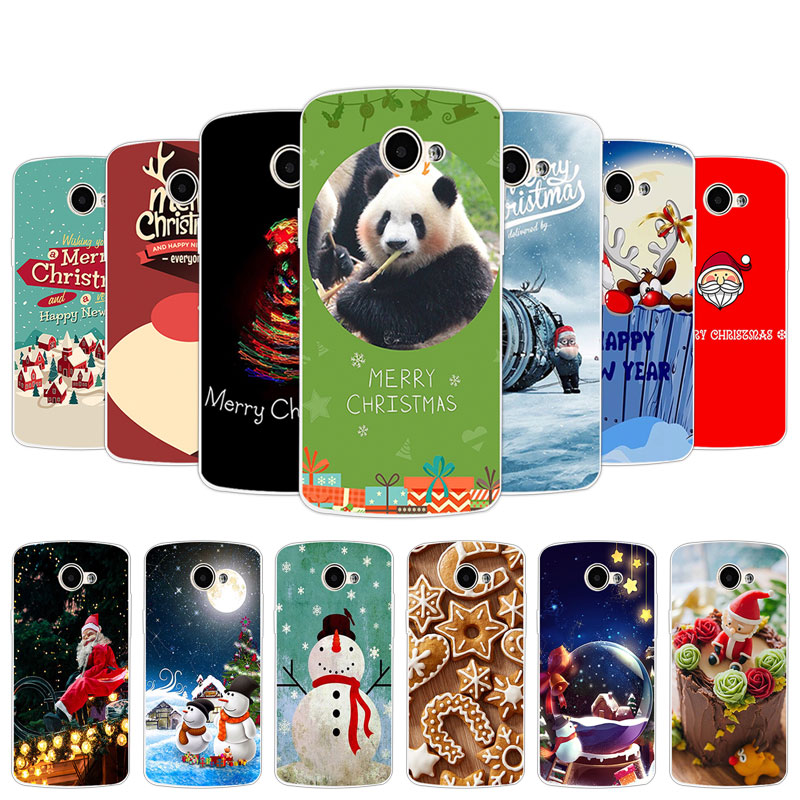 for LG K5 TPU Silicone Christmas Day Cover Case for LG X220 <font><b>X220DS</b></font> Cases Mobile Phone Bag for LG k5 K 5 <font><b>X220ds</b></font> Clear Fundas image