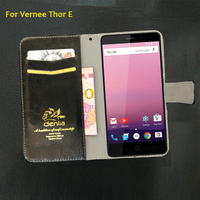 TOP New Vernee Thor E Case 5 Colors Flip Luxury Leather Case Exclusive Phone Cover Credit