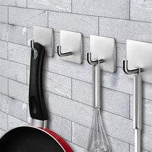 4 шт. крючки для полотенец из нержавеющей стали/Крючок для ванной комнаты самоклеящиеся крючки для ванной комнаты вешалка для одежды