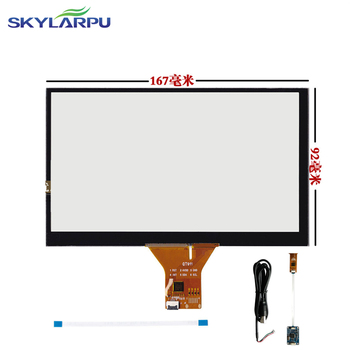 New 167mm*92mm Touch screen Capacitive touch panel Car hand-written screen Android capacitive screen development 167mmx92mm image