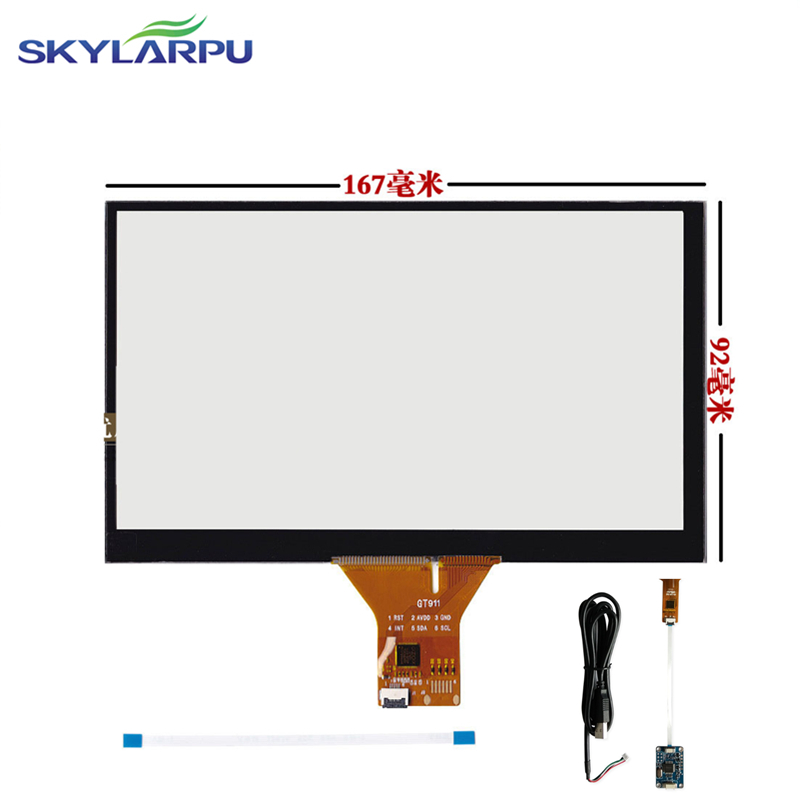skylarpu 167mm*92mm Touch screen Capacitive touch panel Car hand-written screen Android  ...