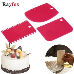 Kitchen Gadgets 3PCs/Set Scraper Cake Blade Bread Making Spatula Cutters Cake Model Silicone Decoratin Tools Kitchen Accessories