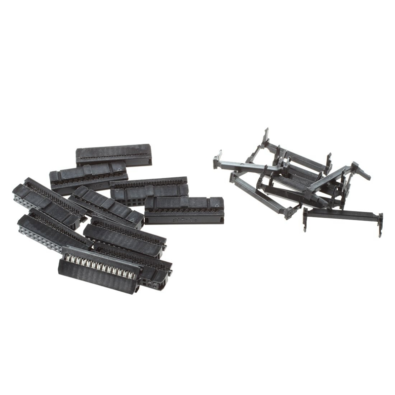 <font><b>10</b></font> x 2.54mm Pitch Female 26 <font><b>Pins</b></font> <font><b>Flat</b></font> <font><b>Cable</b></font> IDC Socket Connector Black image
