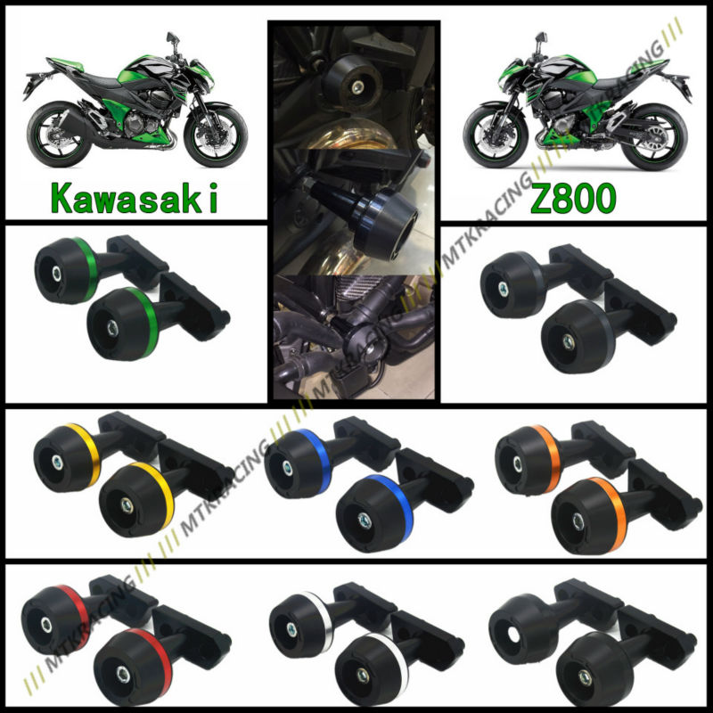 Free delivery New CNC Aluminum Motorcycle Falling Protection Left and Right Frame Sliders Protector For KAWASAKI Z800 2013-2016 цена и фото