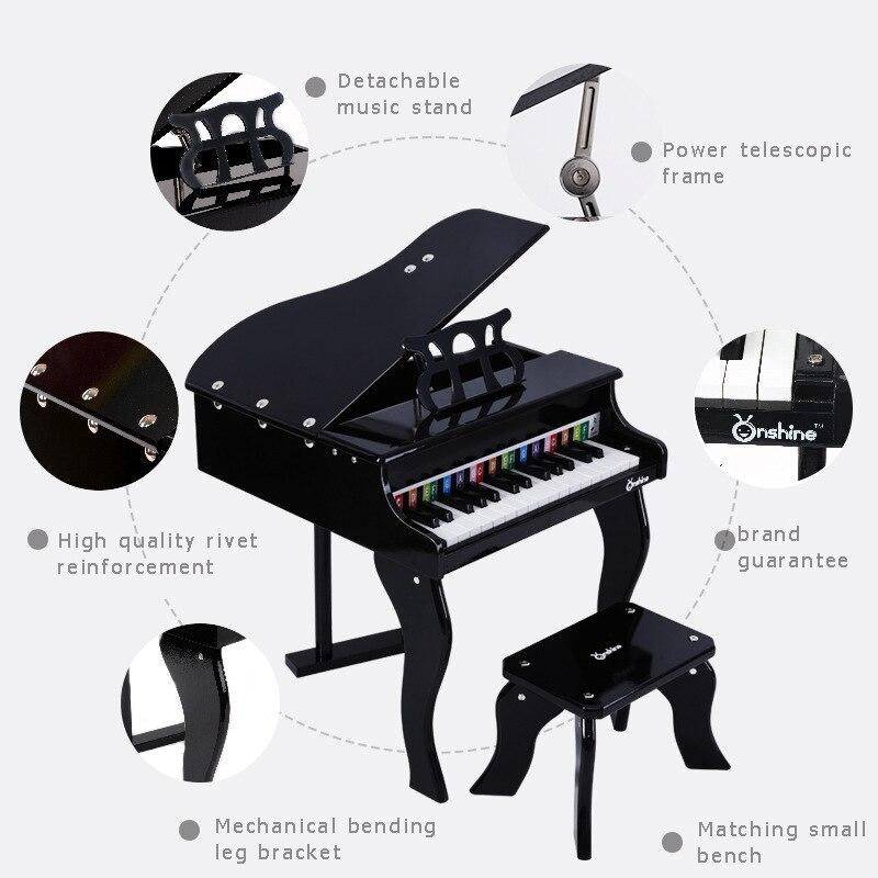 Onshine per bambini di simulazione pianoforte 30 chiave di alta qualità strumento di legno con spettro di pianoforte per bambini giocattoli educativi di apprendimento 3Y + - 3