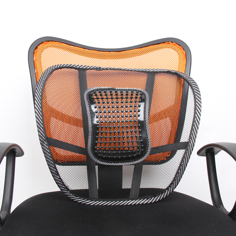 Seat Massage Back Cushion Pad mesh hitam lumbar back brace Ergonomic desgin support cushion cool for office seat car seat