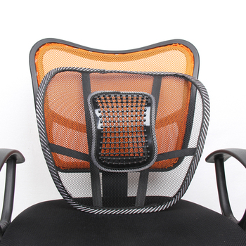 Seat Massage Back Cushion Pad black mesh lumbar back brace Ergonomic desgin support cushion cool for office home car seat chair image