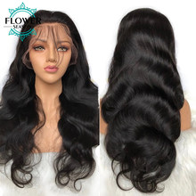 Body Wave Lace Front Wig Human Hair 13x6 Lace Frontal Brazilian Remy Wigs Preplucked Deep Parting For Women Bleached Knots 130%(China)