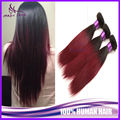 3 Bundles Peruvian Virgin Hair Straight Burgundy Ombre Peruvian Hair Straight Two Tone 1B/99J Ombre Human Hair Weave Extensions