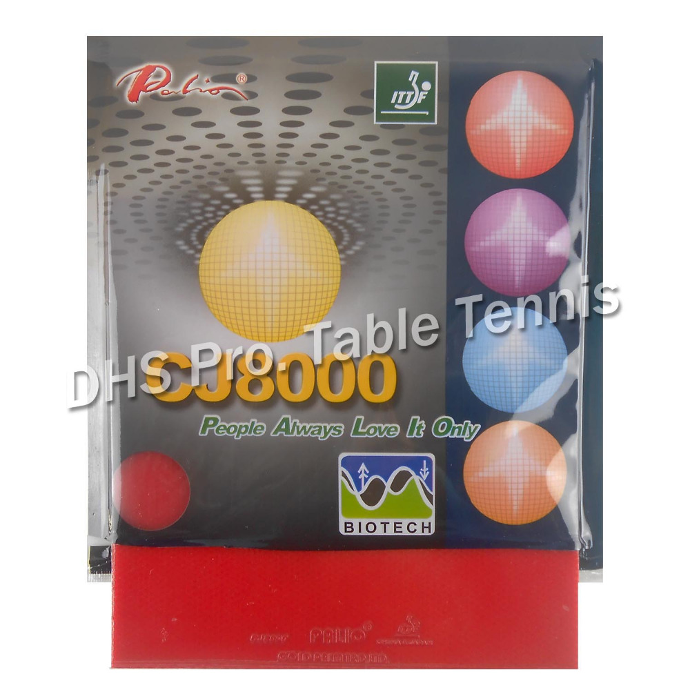 Palio CJ8000 (BIOTECH) Pips-in Table Tennis / Pingpong Rubber With Sponge (H40-42) (2.2mm)