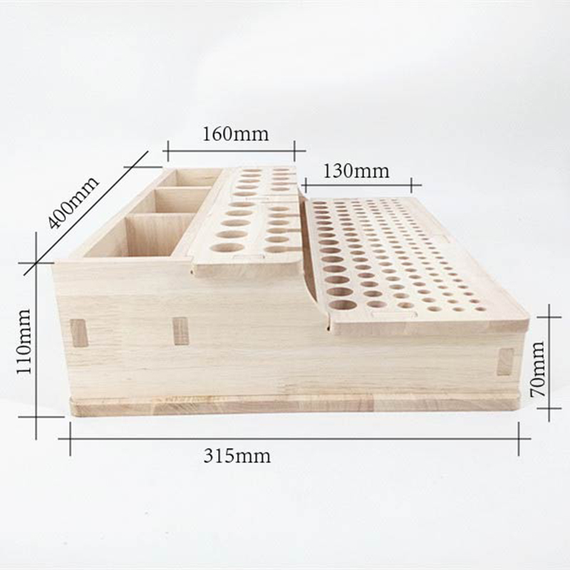 Us 19 8 Rubber Wood Integrated Material Wood Leather Diy Tool Woodworking Diy Tool Storage Tool Box In Leathercraft Tool Sets From Home Garden