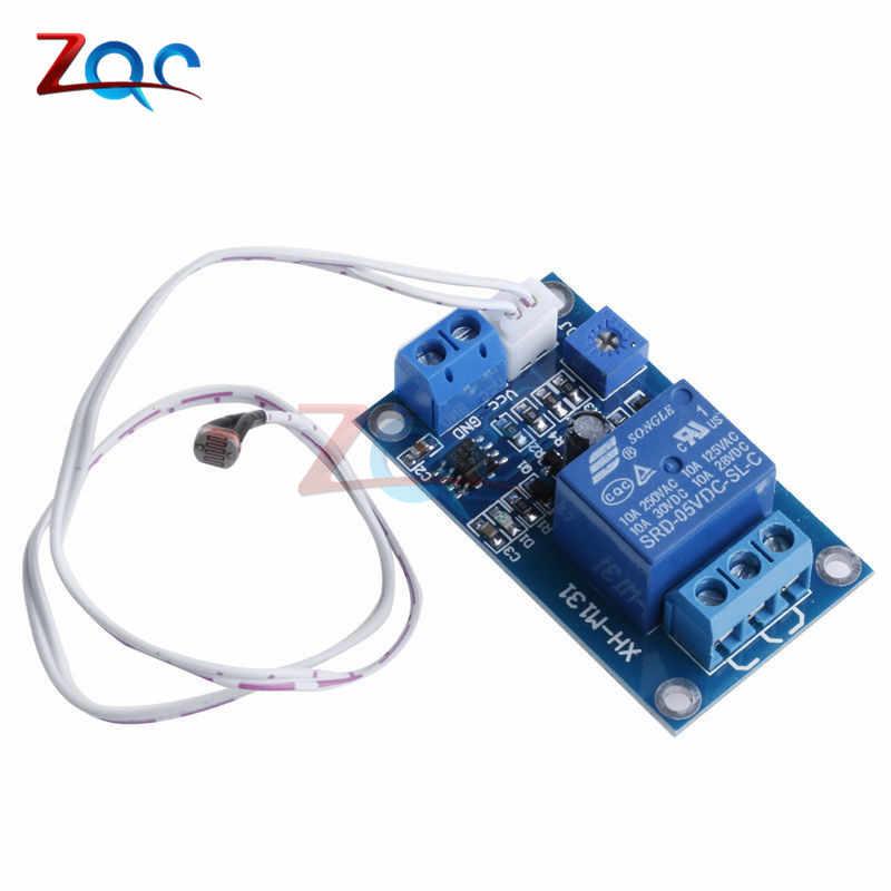XH-M131 DC 5 V/12 V interruptor de Control de luz relé fotorresistor Sensor de detección de módulo 10A módulo de Control automático de brillo