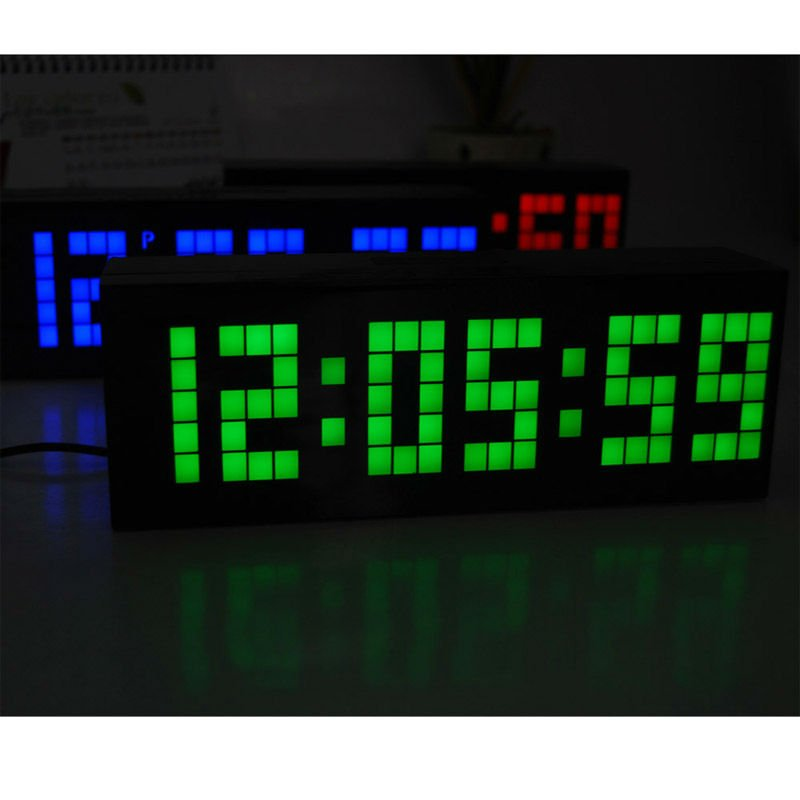 Big Large Number LED DIY Digital Table Clock Timer Vintage Thermometer Jumping  Alarm Clock With Temperature Calendar In Alarm Clocks From Home U0026 Garden On  ...