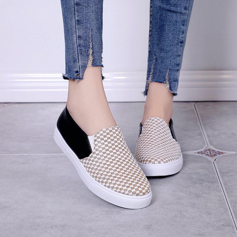 D604 2019 Argent 36 Femmes Slip Plus Pour Taille On argent La Or 40 Casual Or forme Mocassins Plate Chaussures rxaZX1qdwr