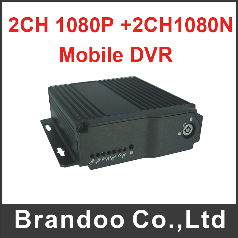 4 Channel Dual Sd Card Mobile DVR Support 2CH 1080P + 2CH 1080N HD MDVR For Taxi Bus Large Vehicle Used 1080P Mobile DVR купить в Москве 2019