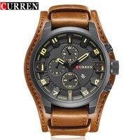 CURREN Men S Top Brand Luxury Quartz Watches Men S Sports Quartz Watch Leather Strap Military