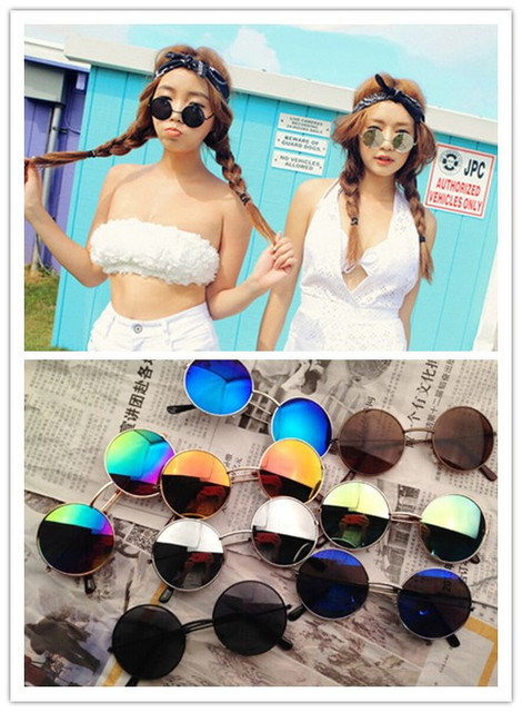 New Unisex Hippie Sunglasses Women Shades Hippy  John Lennon Style Vintage Round Peace Sunglasses and Women Round Glasses
