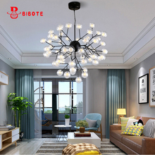 Modern Chandelier Lighting Firefly Tree Branch Leaf Ceiling Chandeliers With G4 Led Bulbs For Livingroom Nordic Design Lustre