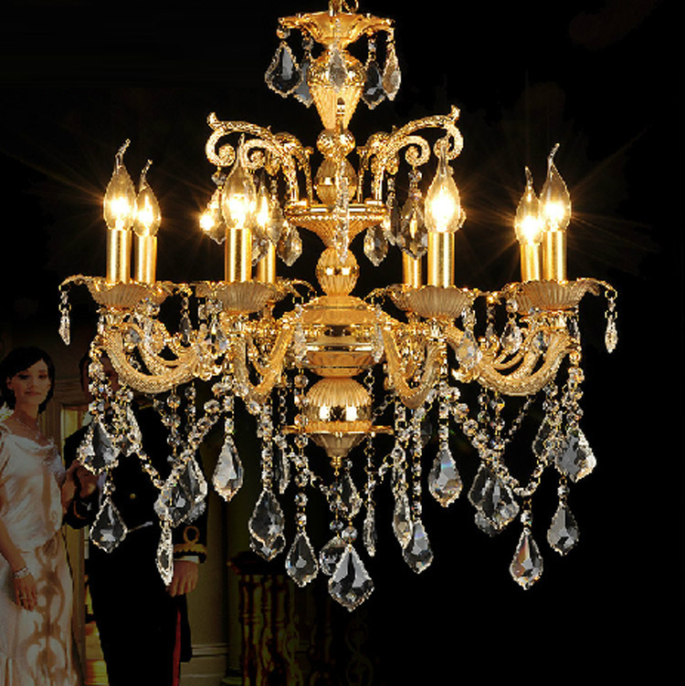 Antique Style Dining Room Chandeliers: Vintage Aluminum Nano Gold Chandeliers Antique Dining Room