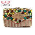 NATASSIE 2017 NEW Women Evening Bags Ladies Hand Shape Party Bags Female Luxury Clutch Purses