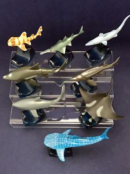 pvc figure model Sharks and dragonflies series toy  8pcs/set