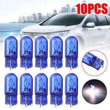 10pcs 밝은 흰색 빛 t10 할로겐 전구 w5w12v 5 w 194 501 자동차 사이드 웨지 자동차 광원 악기 램프