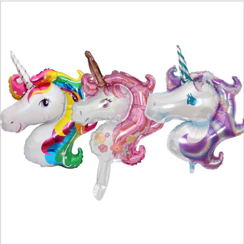 Small Unicorn Balloons Party Balloon Inflatable Animals Toys For Children Birthday Party Decor Supplies Free Shipping