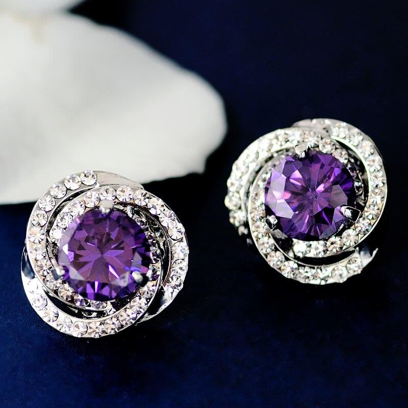 Vrouwen bruiloft Mu Xia nieuwe oor sieraden crystal oorbellen vrouwelijke sterren OL wind 100 Korea verjaardagscadeau sieraden ornamenten collocati - 3