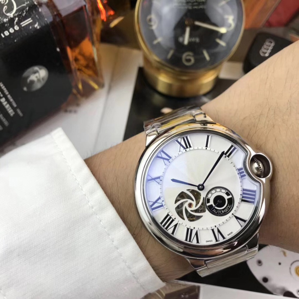 Mens Watches Top Brand Runway Luxury European Design Automatic Mechanical Watch S0716