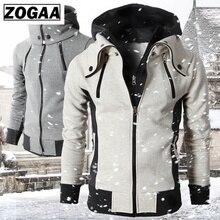 ZOGAA Men Spring Hoodies Slim Fit Streetwear Fake 2 Pieces Hooded Coat Plus Size Mens
