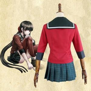 Image 4 - Yeni 6 adet Danganronpa V3 öldürme Harmony Harukawa Maki okul üniforması kadın kız Cosplay kostüm seti ve peruk cadılar bayramı kostüm