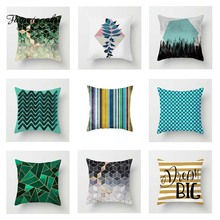 Fuwatacchi Geometric Cushion Cover Diamond Striped Linen  Soft Throw Pillow Cover Decorative Sofa Pillow Case Pillowcase цены