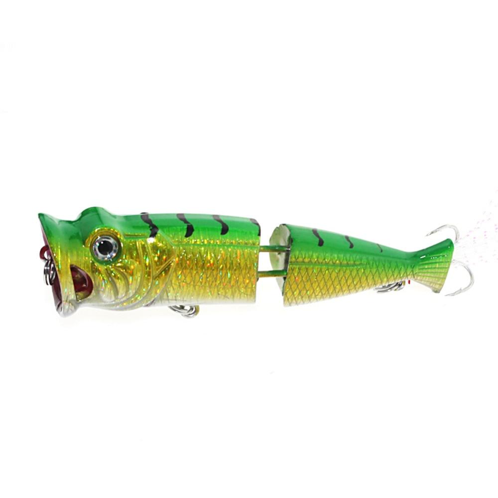 7cm 11g Big Popper Hard Bionic Bait Lure Fishing Lure Bait Waves Climb Alice Mouth Bass Isca Artifiical Fish Bait two Segments