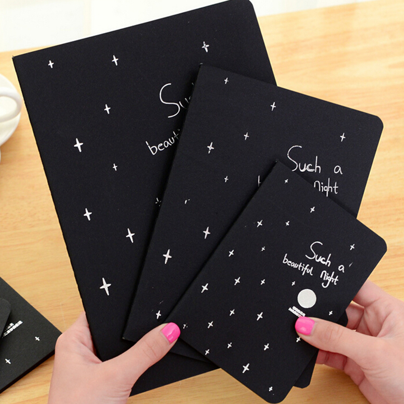 28 Sheets Sketchbook Diary Drawing Painting Graffiti Black Paper Ketch Book Notebook Office School Notebooks Supplies