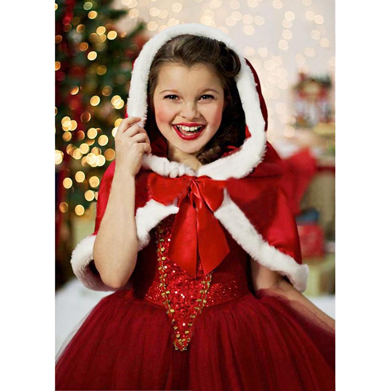 nuevo invierno vestido de la muchacha nios sudadera roja vestidos de princesa nios vestidos de