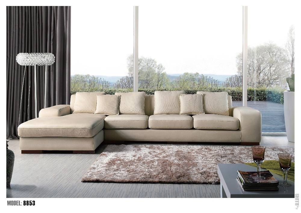 Hot Sale Modern Big U Shaped Genuine Leather Round Corner Sofa Best Living  Room Sofa