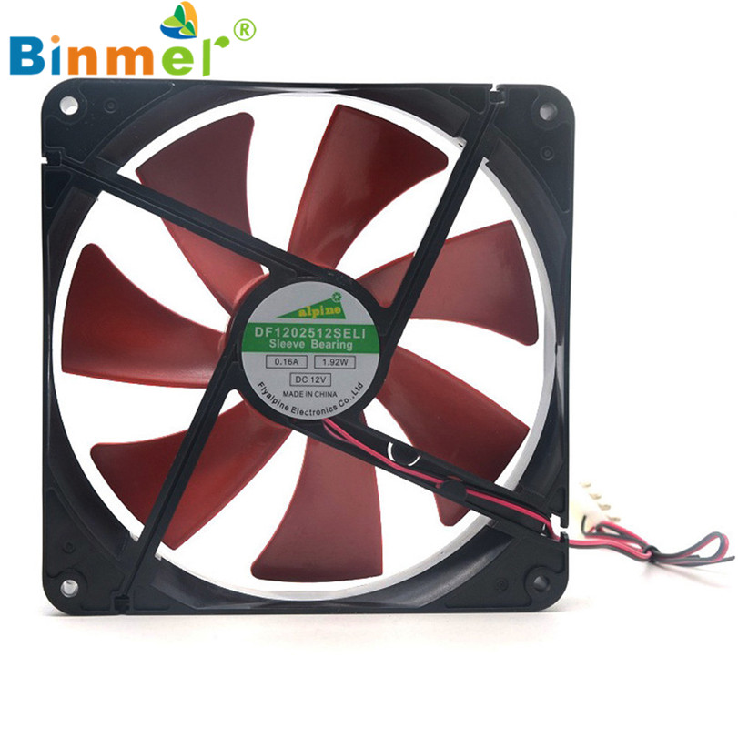 Hot-sale BINMER Computer Fan 140*140mm Best Silent Quiet Case Cooling Fans DC 12V 4D Plug Computer Cooler free shipping37mm button badge machine 37mm paper cutter 37mm 1000pcs pin badge materials badge machine for factory sale