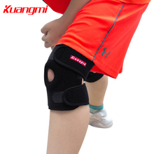 Kuangmi Adjustable Open Kids Knee Brace Support Child Pad Kneecap Protection