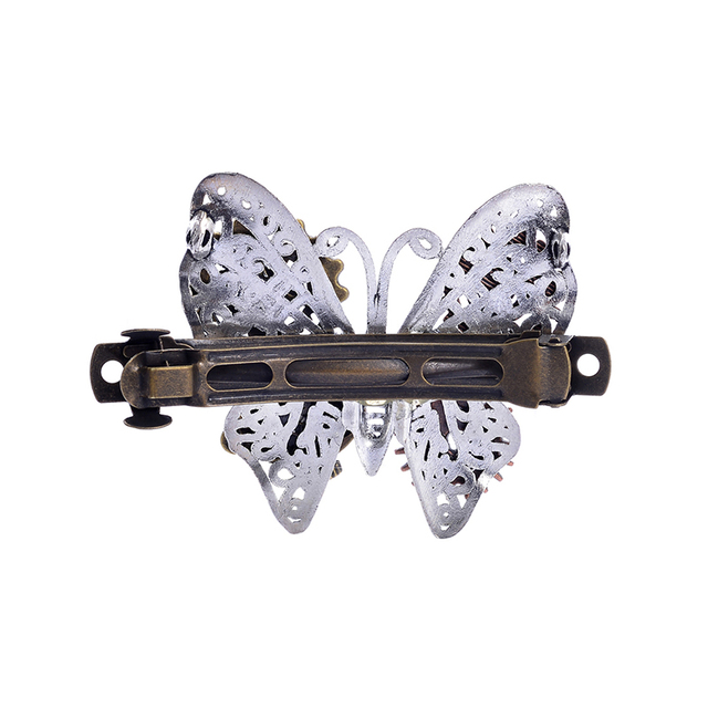 Exquisite Butterfly Shaped Metal Steampunk Barrette