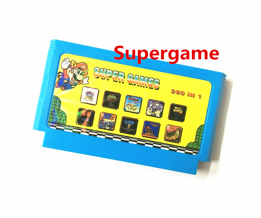 2016 neueste 8 8-bit-nes FCgame 60 pin spiel patrone spiele Spieler Karte 360 in 1 real kein wiederholt spiele Contra