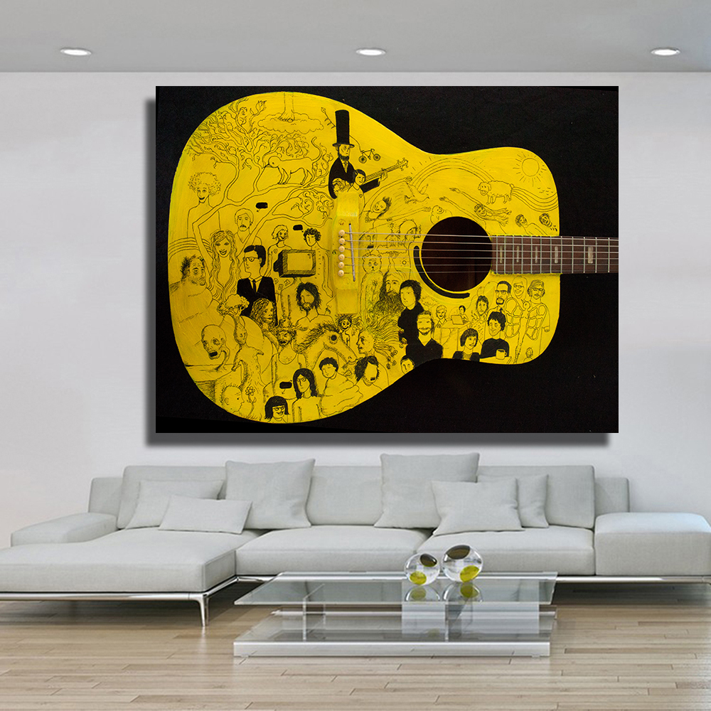 Modern HD Printed Wall Art Frame Canvas Pictures 5 Pieces Music ...