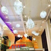 Led Cotton Cloud Pendant Lights Fixture Ceiling Hanging Pendant Lamps Shades for Girls Children's Rooms Living Room Bedrooms Dec